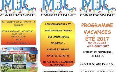 Cet été, à vous les activités avec la MJC !