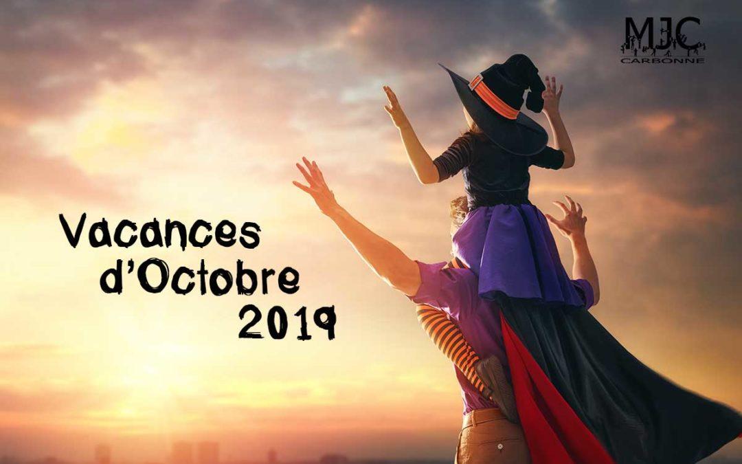 Vacances d'Octobre en approche !