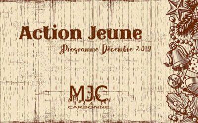 Le programme de Décembre 2019 : Action Jeunes