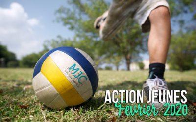 Action Jeunes, le programme de Février !